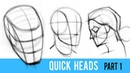 Quickly Draw Heads with the Loomis Method Part 1