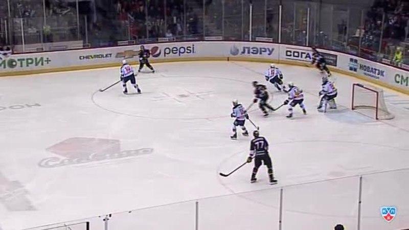 Моменты из матчей КХЛ сезона 14/15 • Гол. 2:0. Паре Франсис (Трактор) оформляет дубль, забросив шайбу в ворота соперника 10.01