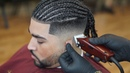 Braided Haircut Tutorial With Oster fast feed Beard line