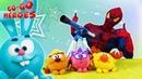 Go Go Heroes • ЧЕЛОВЕК ПАУК и СМЕШАРИКИ играют вместе! Крош, Копатыч, Ёжик и Лосяш!