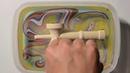 マーブリング・デコ 立体素材へのマーブリング