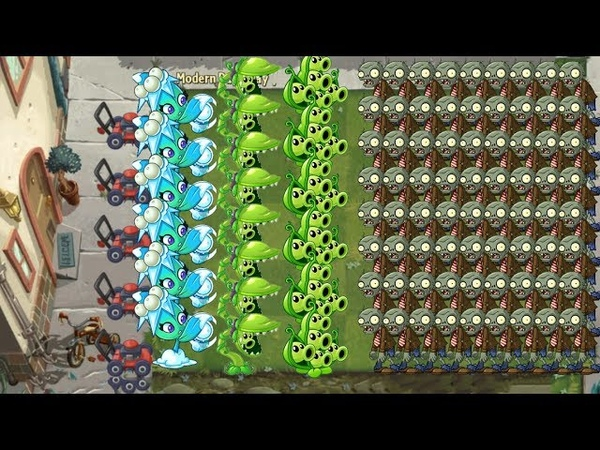 Plants vs Zombies 2 - Missile Toe, Snap Pea and Pea Pod