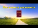 Церковь Всемогущего Бога Евангелие дня Как познать реальность