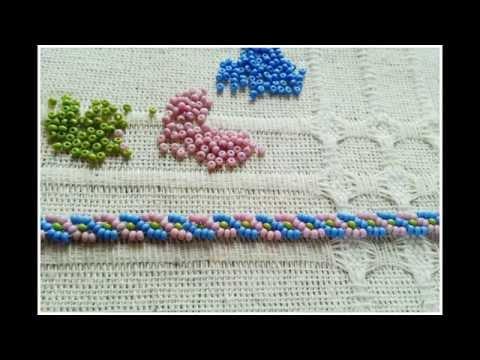 Braid stitch bracelet beadwork tutorial kum boncuklarla saç örgüsü modeli bileklik yapımı