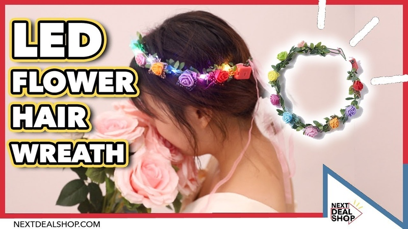 LED Flower Hair Wreath That GLOWS Next Deal Shop