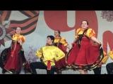 На праздничном концерте в День Победы для жителей и ветеранов выступили Народный ансамбль танца Дубравушка, Народный Хор Рябинуш