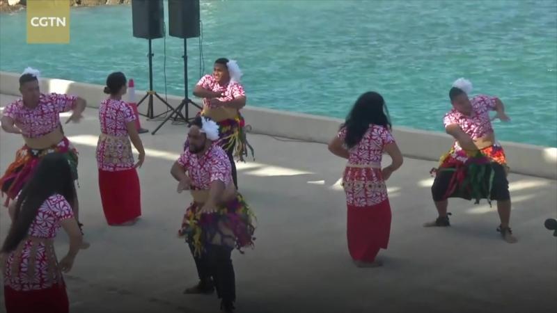 Госпитальный корабль Ковчег мира ВМС НОАК прибыл в Порт Нукуалофа