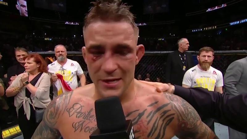 UFC 236 Порье vs Холлоуэй - Слова после боя