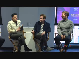Rami Malek, Gwilym Lee, Joseph Mazzello- Bohemian Rhapsody - Talks at Google