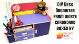 DIY Desk Organizer From Cardboard box by Srushti Patil Best Out Of Waste Project