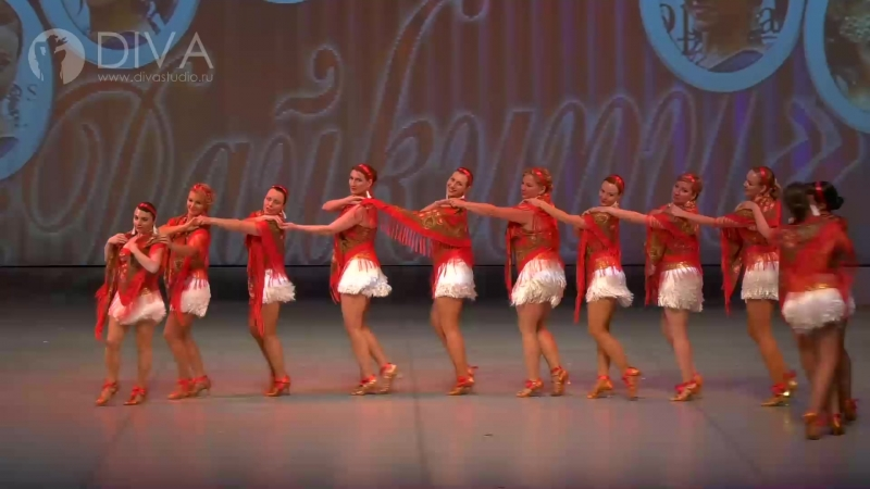 Латина (соло), Перепляс-ай-да, Самба, группа Дайкири, хореограф Антонина Фадеева - школа танца DIVA Studio
