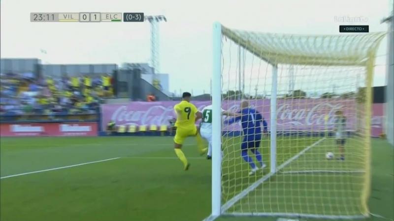 Вильярреал CF Б - Эльче CF, 0-1 (0-3 общий), спорный момент у ворот Эльче