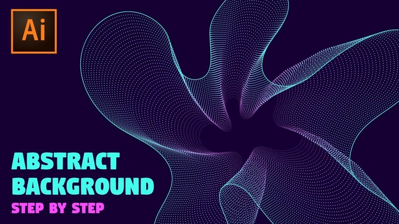 Abstract Background   Adobe Illustrator Tutorial (Waves and Particles)