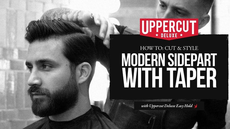 Haircut Tutorial How To Cut and Style Modern Side Part with Taper Uppercut Deluxe Easy Hold