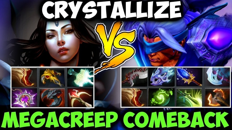 Crystallize Mirana vs 9 Slotted Anti-Mage - Megacreep Comeback
