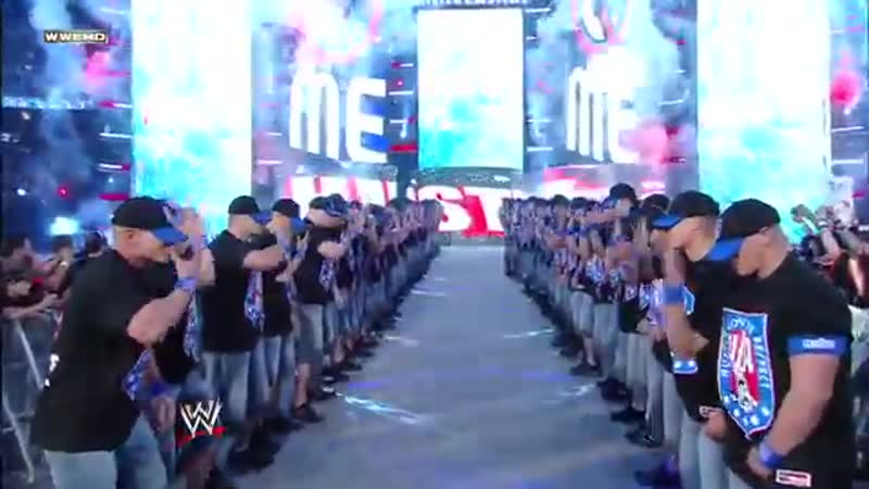 An army of John Cenas make their WrestleMania entrance- WrestleMania 25
