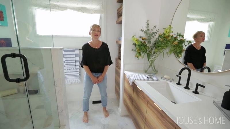 Room Tour | Watch A Small Bathroom Get A Major Makeover || House Home