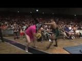 Danshoku Dino, Makoto Oishi, Super Sasadango Machine vs. Shigehiro Irie, Mizuki Watase, Jason Kincaid (DDT - King of DDT 2018 Fi