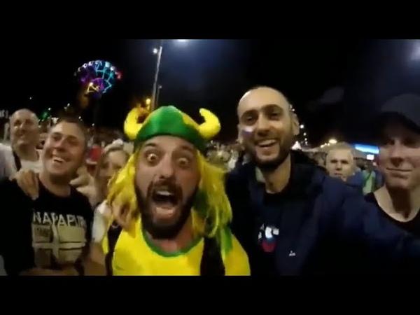 Приключения бразильского болельщика в России | все видео с весёлым бразильцем | «рассия а*уяна»