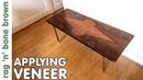 Apllying A New Veneer - second attempt restoring a mid century coffee table