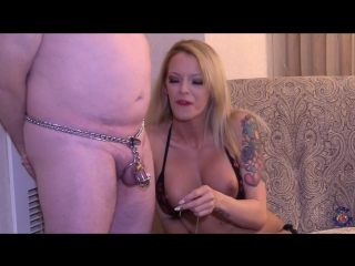 Bella ink - blue balls her chastity slave