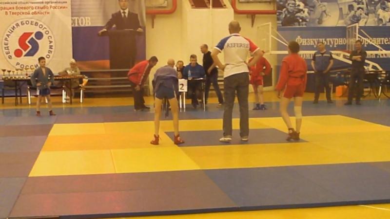 Соревнования по Самбо. 1 место. категория 44 кг. 3 схватка. Финал
