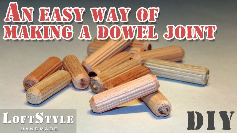 Самый простой способ сделать соединение на шканты An easy way of making a dowel joint