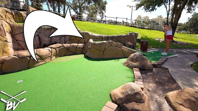 TAKING ON THE BLACKBEARD CHALLENGE MINI GOLF COURSE AT PIRATE'S COVE!