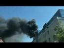 В центре Красноярска горит здание на ул. Мира