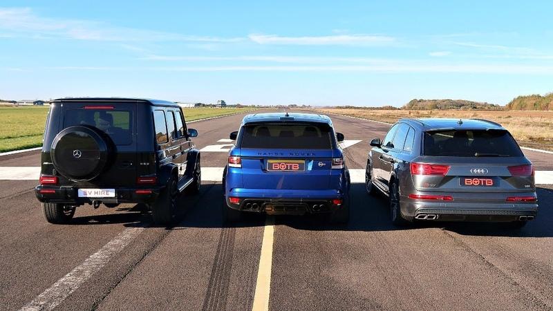 DRAG RACE! RANGE ROVER SVR VS AUDI SQ7 VS G63 AMG!