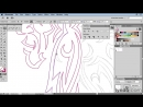 Lynda - Artist at Work - Native American Tribal Illustration 010 Drawing the side feathers in vectors