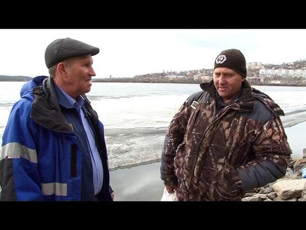 Сотрудники «Гражданской защиты» вышли на тонкий лёд, чтобы ещё раз предупредить рыбаков об опасности