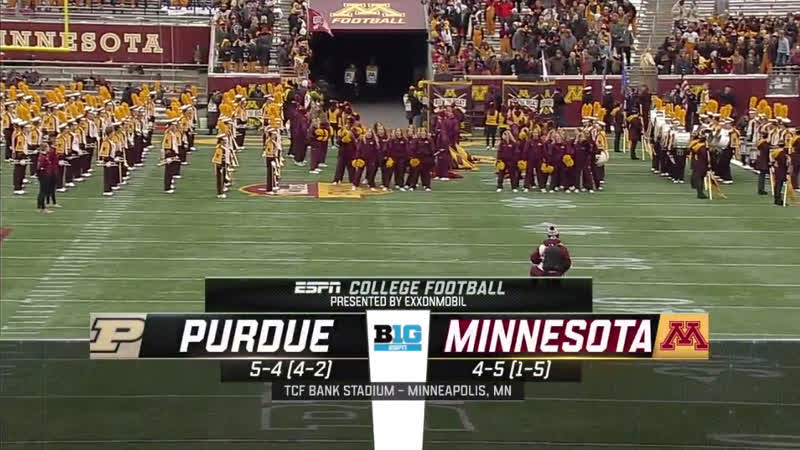NCAAF 2018 / Week 11 / Purdue Boilermakers - Minnesota Golden Gophers / EN