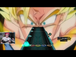 Goku goes super saiyan 3 for the first time... on Guitar Hero!