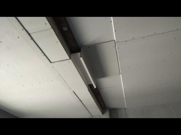 Монтаж потолка из гипсокартона в спальне. 10 рабочих часов за 9 минут.