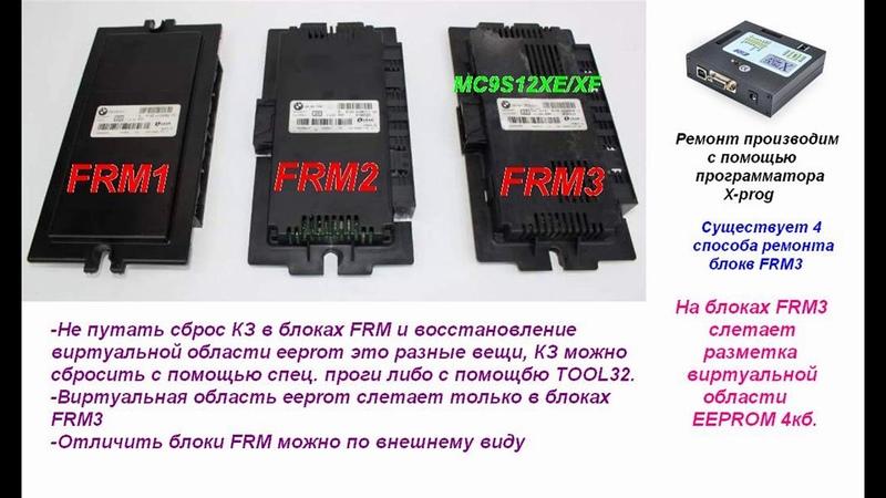 Всё что нужно знать о ремонте блоков FRM BMW