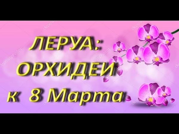 ЛЕРУА ОРХИДЕИ к 8 МАРТА,05.03.2019,ТЦ Космопорт,Самара