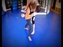 Wrestler girl lift carry