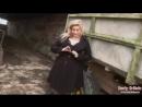 Bbw Ellie Roe outdoor black lingerie