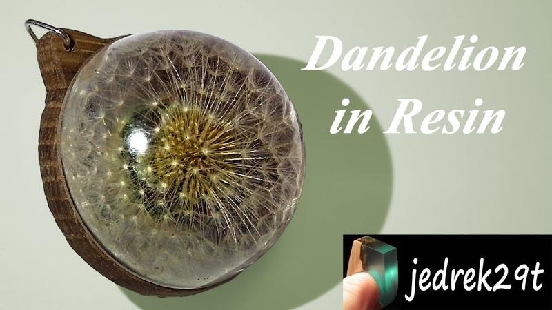 DIY Dandelion in Resin Dmuchawiec w Żywicy