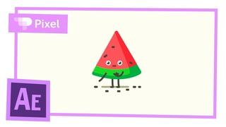 Анимация арбуза в After Effects (школа Pixel)