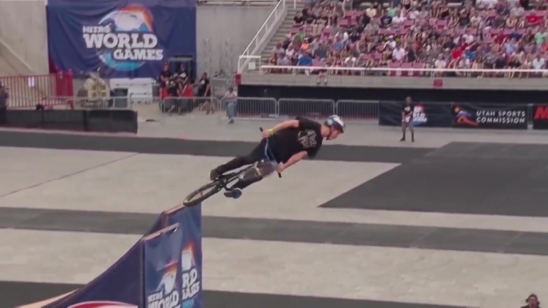 BMX Ryan Williams does 1080 front flip