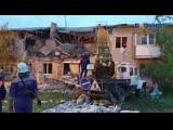 Появилось видео с места взрыва газа в поселке Чистоозерный Ростовской области