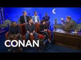 Conan Built A Mini CONAN Set For The Avengers Cast - CONAN on TBS