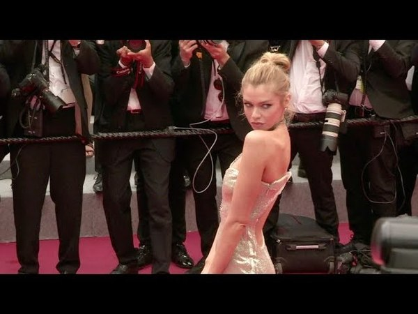 Stella Maxwell on the red carpet for the Premiere of Plaire, Aimer et Courir Vite in Cannes