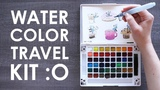 LEAVING THE HOUSE TO DRAW! - Koi Watercolor Travel Kit
