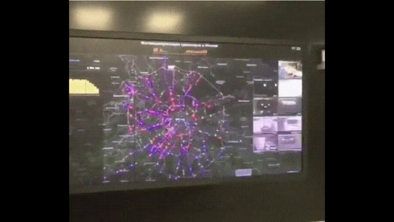 Вот так камеры ГИБДД Москвы фиксируют штрафы в реальном времени.