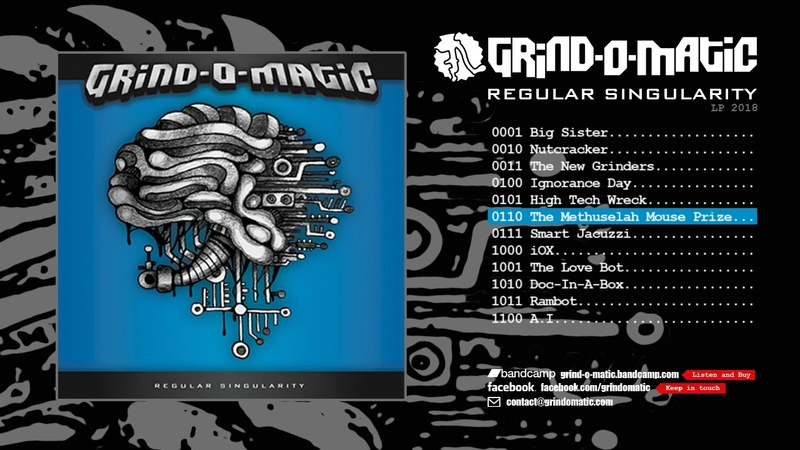 GRIND-O-MATIC - Regular Singularity CD FULL ALBUM (2018 - Progressive Deathgrind)