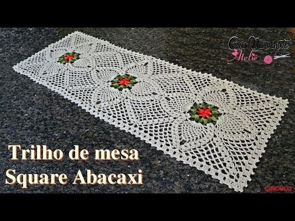 Trilho de Mesa Square Abacaxi - Cris Benvenuto