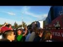 Душевная песня на фестивале болельщиков в Москве